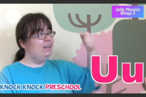 Jolly Phonics を使って発音練習 Group 3: g, o, u, l, f, b